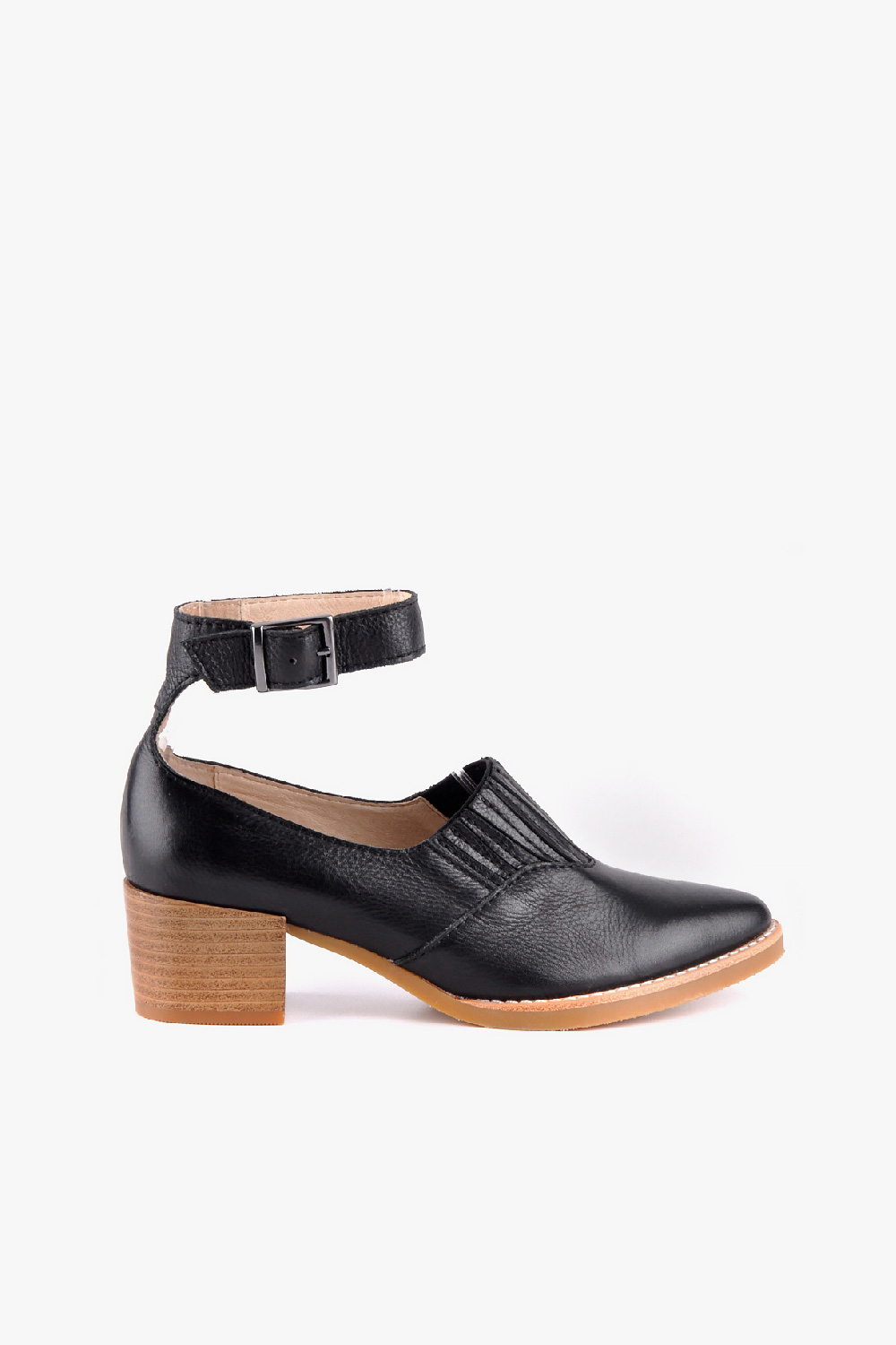 Heeled Open Boot Strap